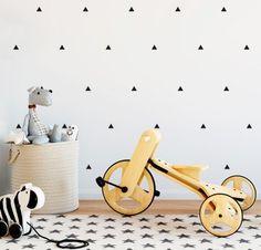 LITTLE TRIANGLES Triangles, Wooden Toys, Skateboard, Urban, Mini, Car, Interiors, Design, Baby Room Girls