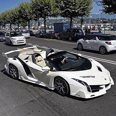 All White #Lamborghini #VenenoRoadster  Follow @lambowars @lambowars @lambowars @lambowars  pic by @ll_carsphotography