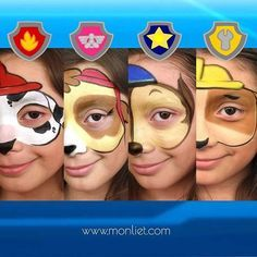 Face painting examples are very useful in the art of face painting. One of the greatest things about face painting examples, is that there are many reference Paw Patrol Party, Paw Patrol Birthday, Face Painting Designs, Body Painting, Paw Patrol Face Paint, Skye Paw Patrol Costume, Paw Patrol Halloween Costume, Cumple Paw Patrol, Puppy Party