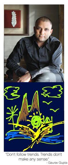 abc589e1ffc1b Ace couture fashion designer Gaurav Gupta has hidden the word Mohawk in his  interpretation of our brand name.