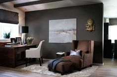 Colors for my living room Home Office Design, Home Office Decor, House Design, Home Decor, Workspace Inspiration, Interior Inspiration, Interior Architecture, Interior Design, Grey Walls