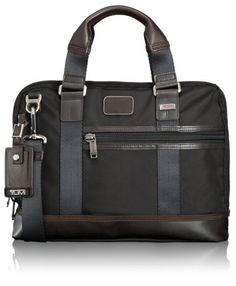 (TOP CHOICE) Tumi | Alpha Bravo | Earle Compact Brief Style#: 222610HK2 in Hickory $295.00
