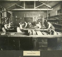 Tradie Carpentry Class 1900s.Vintage Artisan Furniture Making. #tafe  #education #geelong
