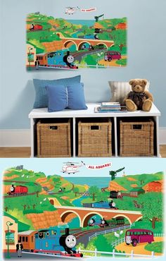 Thomas and Friends Giant Wall Mural - Wall Sticker Outlet