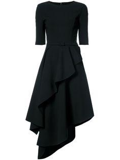 Oscar de la Renta платье мини с оборками