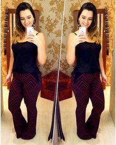 Calça flare em malha estampada e camiseta básica compõe esse look super cool! Inspire-se!!! Visite nossa loja física e se surpreenda com as lindas roupas que aguardam por você! Informações pelo (62) 8555-3020 Enviamos para todo o Brasil  #Inverno2016 #lookinspiração #vempramonami #monamiboutique #fashion #coleçãoinverno2016 #novacoleção #lookslindos #welovemonami #temqueter #moda #tendência #novidades #preçosótimos #looksdeapaixonar #correpracá #goiânia #setoroeste #galeria1 #inspiração…