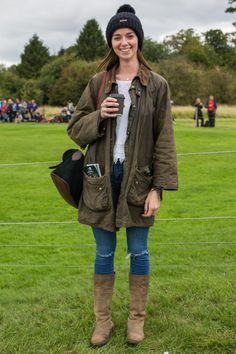 'We adored Beckie\u2019s modern take on a classic country style - torn denim worn with light layers - completed with her Grandmother\u2019s timeless vintage Barbour waxed jacket. \u00a0 \u00a0\u00a0'