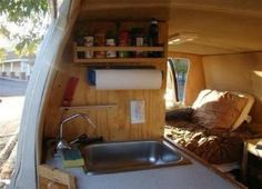 A man named Steve, who goes by the nickname & Van Guy,& has an entire website devoted to converting vans and buses into living spaces. Cargo Trailer Camper Conversion, Cargo Trailers, Camper Life, Truck Camper, Camper Van, Diy Camper, Camper Caravan, Bus Life, Rv Campers