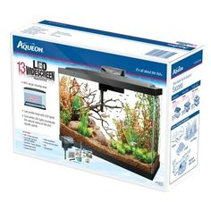 "Aqueon Kit Led Aquarium 13 Gallon - 25.875"""" X 10"""" X 18.125"""""