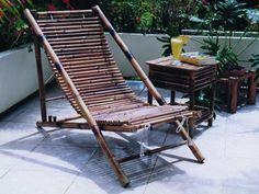 Muebles de Bambú para terraza y piscina.                              …