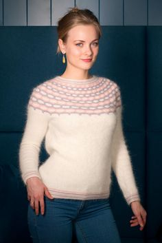 Ravelry: Winter Angel pattern by Tanya Mulokas Angora Sweater, To My Daughter, Knitwear, Knitting Patterns, Sweaters For Women, Pullover, How To Wear, Clothes, Man Stuff