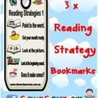 Reading Strategy Bookmark Mates - PDF file1 page with color reading strategies 1-13 in order. All 3 strategy bookmarks are presented on one pag...