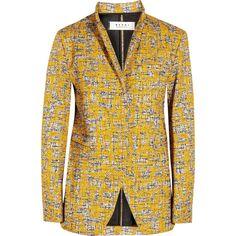 Marni Printed tweed jacket ($485) ❤ liked on Polyvore