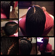 Small Box Braids w/ Dipped Ends
