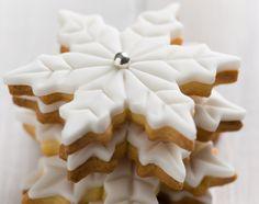 Snowflake sugar cookies.