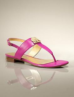 Our leather thong sandal made even more charming, thanks to a gold-tone elephant adornment.