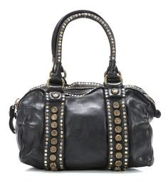 Lavata Handbag Leather black 25 cm