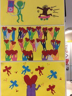 Keith Haring -tyylisiä leiketöitä
