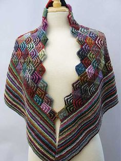 (via Annie's - Irina's Shawl Knit Pattern)