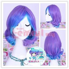L-email 30cm Short Rin Kagamine Vercion Infinity Cosplay Party Wig Ml165 by L-email. $25.98. made of heat-resistant fiber. length:30cm/11.81inch G.W.: 212g  Material: heat-resistant fiber  Color:purple + blue  Package incluldes: 1X Wig