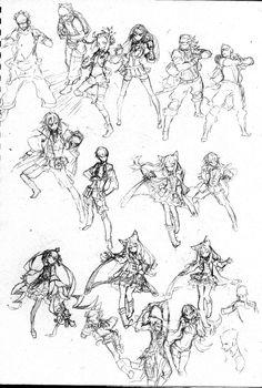 Shirow miwa Body Reference Drawing, Body Drawing, Manga Drawing, Art Reference, Character Design References, Character Art, 7th Dragon, Figure Sketching, Unicorn Art