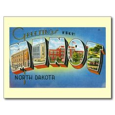 Magic City, Minot, North Dakota Vintage Postcards
