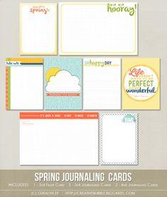 Spring Journaling Cards