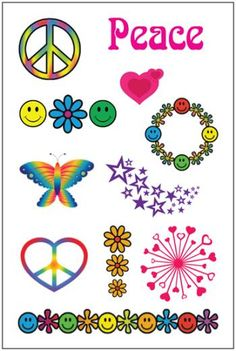 Flower Girl Temporary Tattoo Sheet. Great for Kids.