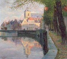 Bruges Paintings - Autumn in Bruges by Omer Coppens
