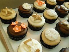 Beach Themed Cupcakes by SugaRush Desserts in Elkhart, Indiana