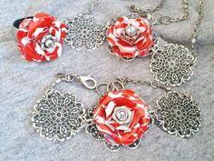 Coca Cola Filigree Set - Necklace, Ring, & Bracelet