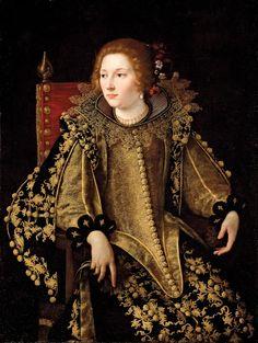 Artemisia Gentileschi Dame assise de trois-quarts Oil on canvas