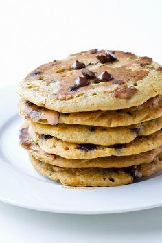 Tortitas de calabaza y chocolate   danzadefogones.com #receta #vegano #danzadefogones