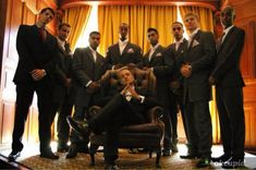 Is it wrong that I *love* this godfather groomsmen's shot?
