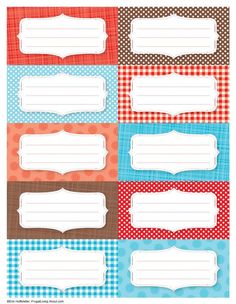 7 Free Printable Canning Jar Labels: Red Front Labels