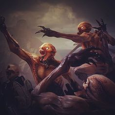 Doom Imps coming for ya!!!! Really like this screen grab, almost looks like a painting. #doom #fightlikehell #ripandtear #imp #monster #creature #gamedev #gameart #idsoftware #bethesda