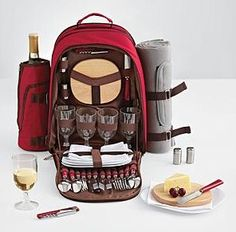 Picnic Bacpack $79.95  Take family, friends, or just that special person out for a fun picnic. Your favorite picnic