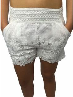 Crochet White Shorts