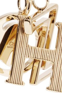 Chloé - Alphabet Gold-plated Wallet Charm - N