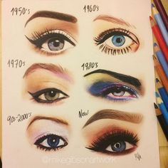 Evolution of eye makeup, which is your favorite?