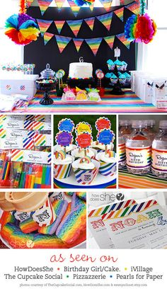Cute rainbow party