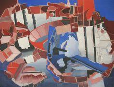 Titel : 'Debacle' ('Debacle') - Olieverf op doek (Oil on canvas) - 160 cm [80 + 80] x 120 cm -  63.0 in [31.5 + 31.5] x 47.2 in - 22 maart 2014 (Mar 22, 2014) -
