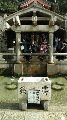 Collecting and sampling the water at Kiyomizu-dera Kyoto [OC] (1503x2672)