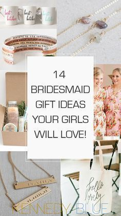 Fun and chic bridesmaid gift ideas that your 'maids will actually be excited to get! 24 Bridesmaid Gift Ideas Your Girls Will Love | Kennedy Blue