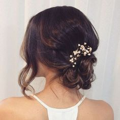 Simple Messy Bridal Updo