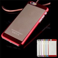 Sale 24% (4.69$) - For Apple iPhone 6/6S 4.7\'\'  Case Ultra-thin Luxury Metal Electroplate Back Cover Case