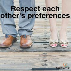 Learn how to agree to disagree. You & your spouse aren't going to agree on everything, but BOTH of you can respect each other's preferences.