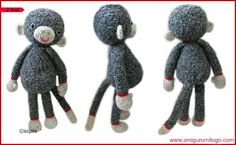 Darcy Large Monkey Free Crochet Pattern ~ Amigurumi To Go