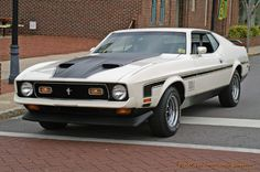 Vintage - ford mustang mach1 1973 spencer nc apr14 2007 - Castle Graphics Transportation Galleria Ford Mustang 1964, Ford Mustang Shelby Cobra, Mustang Lx, Mustang Mach 1, Ford Shelby, Mustang Cars, Mustang Restoration, Ford Lincoln Mercury, Classic Mustang