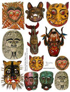 Mexican folk masks